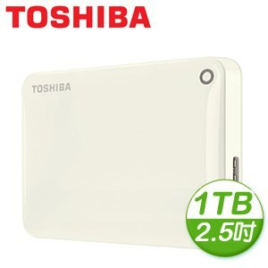 Toshiba 東芝 Canvio Connect II V8 1TB USB3.0 2.5吋行動硬碟《白》