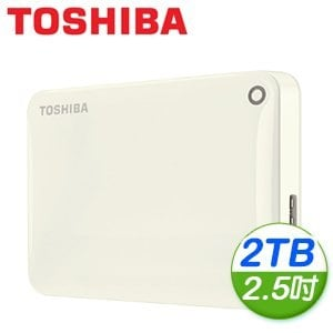 Toshiba 東芝 Canvio Connect II V8 2TB USB3.0 2.5吋行動硬碟《白》