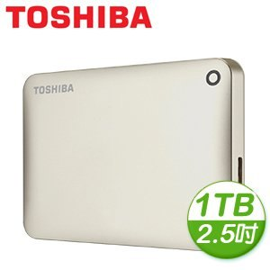 Toshiba 東芝 Canvio Connect II V8 1TB USB3.0 2.5吋行動硬碟《金》