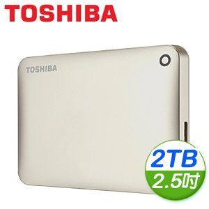 Toshiba 東芝 Canvio Connect II V8 2TB USB3.0 2.5吋行動硬碟《金》