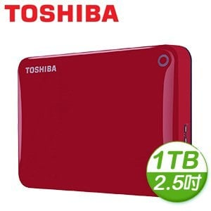 Toshiba 東芝 Canvio Connect II V8 1TB USB3.0 2.5吋行動硬碟《紅》