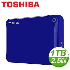Toshiba 東芝 Canvio Connect II V8 1TB USB3.0 2.5吋行動硬碟《藍》