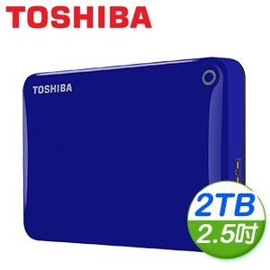 Toshiba 東芝 Canvio Connect II V8 2TB USB3.0 2.5吋行動硬碟《藍》