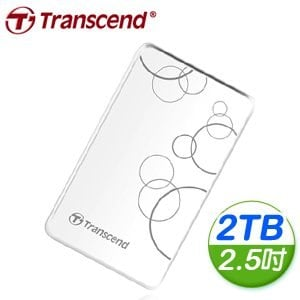 Transcend 創見 SJ25A3W 2TB USB3.0 2.5吋白色精品抗震硬碟