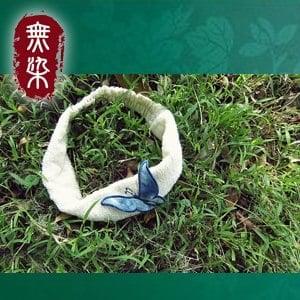 無染 藍染蝴蝶頭帶(27x5cm)