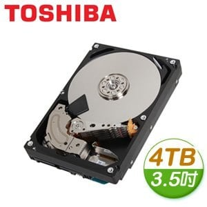 Toshiba 東芝 4TB 3.5吋 128M快取 SATA3 監控硬碟(MD04ABA400V)