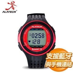 ALATECH Runaid 10 藍牙跑步運動錶《紅黑》