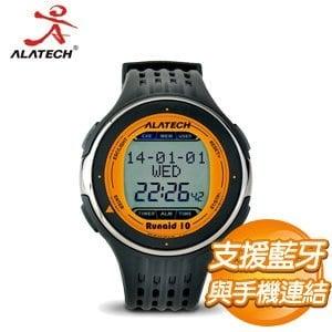 ALATECH Runaid 10 藍牙跑步運動錶《橘黑》