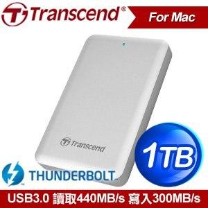 Transcend 創見 StoreJet SJM500 1TB USB3.0 Thunderbolt 行動固態硬碟《For Mac》
