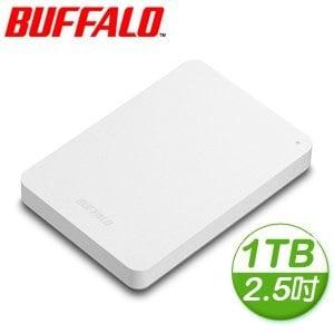Buffalo 巴比祿 PNFU3 1TB USB3.0 2.5吋 外接硬碟《白》