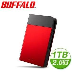 Buffalo 巴比祿 PZFU3 1TB USB3.0 2.5吋 外接硬碟《紅》