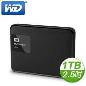 WD 威騰 New My Passport Ultra 1TB 2.5吋 USB3.0 外接式硬碟《經典黑》
