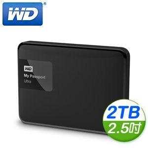 WD 威騰 New My Passport Ultra 2TB 2.5吋 USB3.0 外接式硬碟《經典黑》