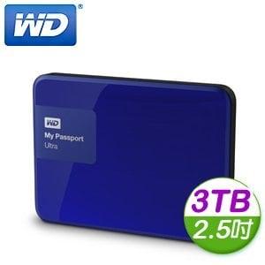 WD 威騰 New My Passport Ultra 3TB 2.5吋 USB3.0 外接式硬碟《貴族藍》