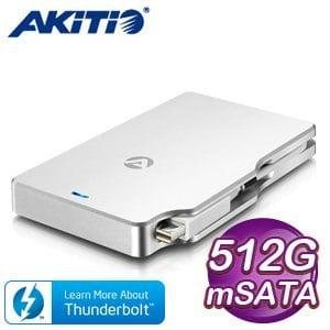 AKiTiO Palm RAID 雷霆掌心龍 512GB 外接 SSD 固態硬碟