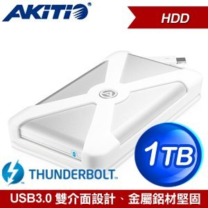 AKiTiO 雷霆 1TB 2.5吋 行動硬碟