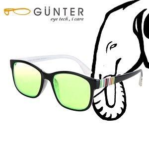 【GUNTER】室內濾藍光戶外抗UV變色眼鏡-極光象(亮黑/黑)