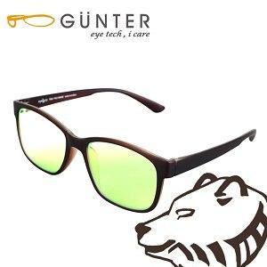 【GUNTER】室內濾藍光戶外抗UV變色眼鏡-極光熊(霧棕/棕)