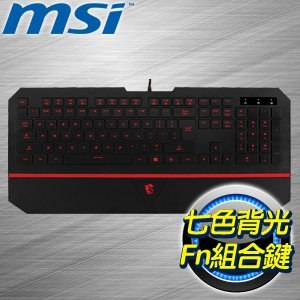 MSI 微星 DS4100 攔截者 電競鍵盤《中文版》