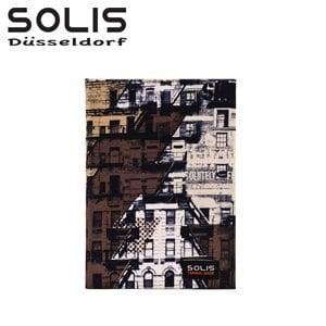 SOLIS〔普普城市 Pop City〕超潑水精裝布面紀念手札 BK03003《卡其》