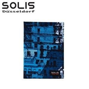 SOLIS〔普普城市 Pop City〕超潑水精裝布面紀念手札 BK03004《藍》
