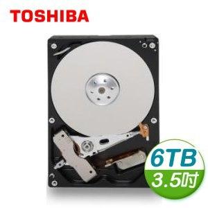Toshiba 東芝 6TB 3.5吋 128M快取 SATA3 內接硬碟(MD04ACA600)