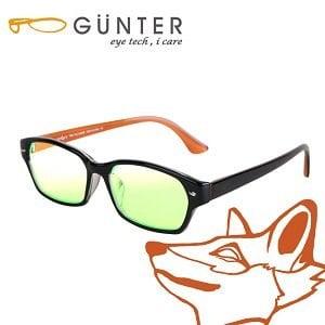 【GUNTER】室內濾藍光戶外抗UV變色眼鏡-極光狐(亮黑/橘)