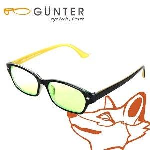 【GUNTER】室內濾藍光戶外抗UV變色眼鏡-極光狐(亮黑/黃)