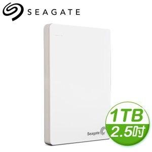 Seagate 希捷 Backup Plus Slim 1TB 2.5吋 USB3.0 外接式硬碟《白》