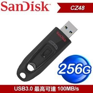 SanDisk CZ48 Ultra3.0 256G 隨身碟《黑》