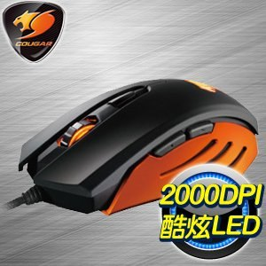 Cougar 美洲獅 200M 電競滑鼠《黑橘》