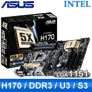 ASUS 華碩 H170-PLUS D3 LGA1151 主機板《原廠註冊四年保固》