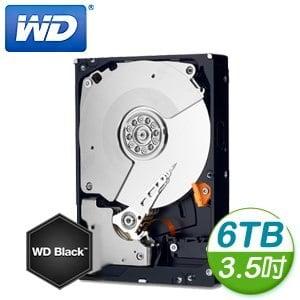 WD 威騰 Black 6TB 3.5吋 7200轉 128M快取 SATA3 黑標硬碟(WD6001FZWX)