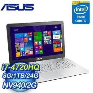 ASUS 華碩 N551JB-0072A4720HQ i7-4720HQ 8G 1TB+24G SSD 960M 2G獨顯 筆記型電腦
