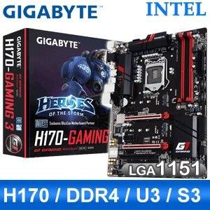 Gigabyte 技嘉 H170-Gaming 3 LGA1151 主機板《原廠五年保固》