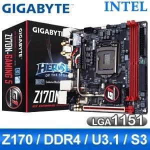 Gigabyte 技嘉 Z170N-Gaming 5 LGA1151 主機板《原廠註冊五年保固》