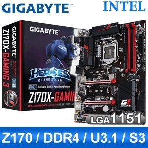 Gigabyte 技嘉 Z170X-Gaming 3 LGA1151 主機板《原廠註冊五年保固》