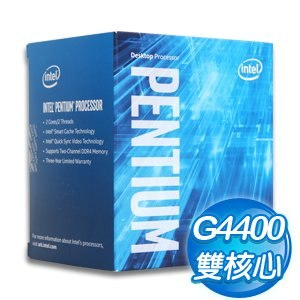 Intel 第六代 Pentium G4400 雙核心處理器《3.3Ghz/LGA1151》(代理商貨)