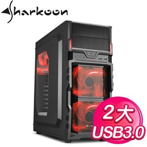 Sharkoon 旋剛 勁風者 U3 紅2大 電腦機殼