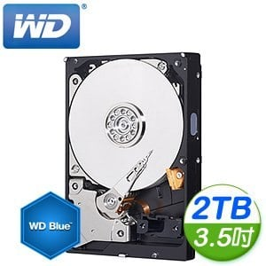 WD 威騰 Blue 藍標 2TB 3.5吋 64M SATA3 內接硬碟(WD20EZRZ)