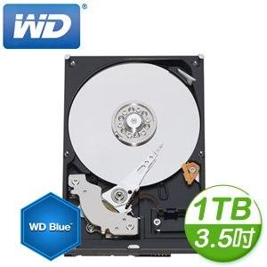 WD 威騰 Blue 1TB 3.5吋 7200轉等級 64MB快取 SATA3藍標硬碟(WD10EZEX)