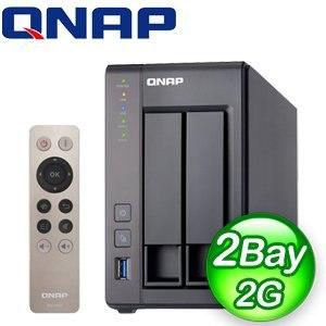 QNAP 威聯通 TS-251+ 2G NAS 網路儲存伺服器《附遙控器》