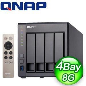 QNAP 威聯通 TS-451+ 8G NAS 網路儲存伺服器《附遙控器》