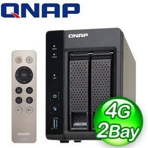 QNAP 威聯通 TS-253A 4G NAS 網路儲存伺服器《附遙控器》