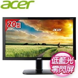 Acer 宏碁 KA200HQ 20型 不閃屏瀘藍光 LCD 寬螢幕