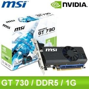 MSI 微星 N730K 1GD5LP/OC PCIE顯示卡《原廠三年保固》