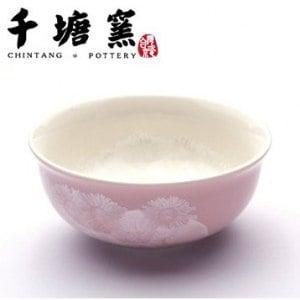 【微笑MIT】千塘窯/台灣京瓷-釉之花絮 情人對碗 2碗+2筷(粉紅)