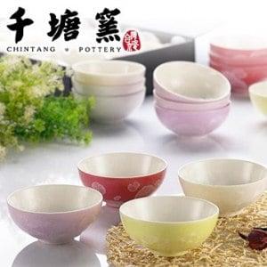 【微笑MIT】千塘窯/台灣京瓷-釉之花絮 茶碗(6入裝)