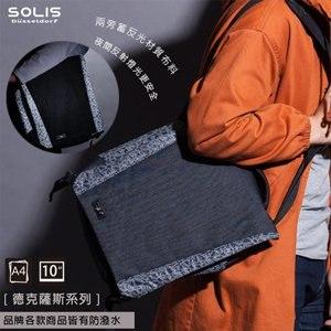 SOLIS〔德克薩斯系列 Texas〕平板電腦側背包 B14002《牛仔黑》