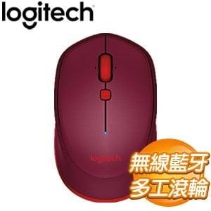 Logitech 羅技 M337 藍芽滑鼠《紅》
